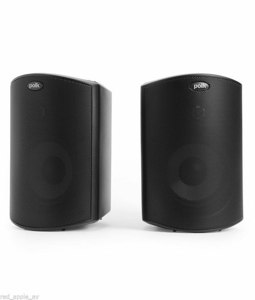 2 x (Pair) Polk Audio Atrium 6 Black or White All Weather Certified Outside Speakers