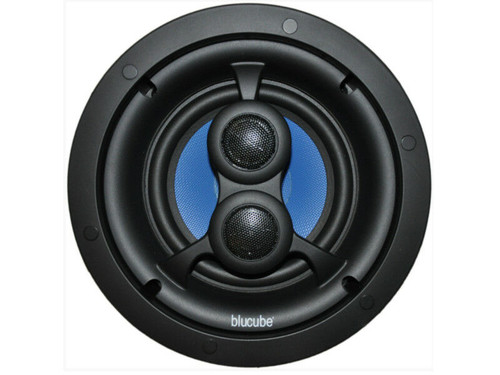 "BluCube BCK65-SS 6.5"" In-Ceiling Single Stereo Speaker Kitchens/Bathrooms"