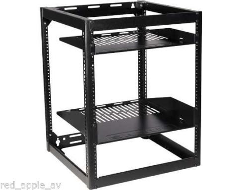 "SANUS CFR1615 26"" Tall 15U Stackable Skeleton Audio Visual AV Rack"