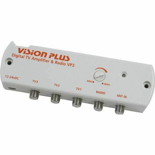 Vision Plus VP3 12-24v Caravan Motorhome TV Aerial & Radio Booster Amplifier