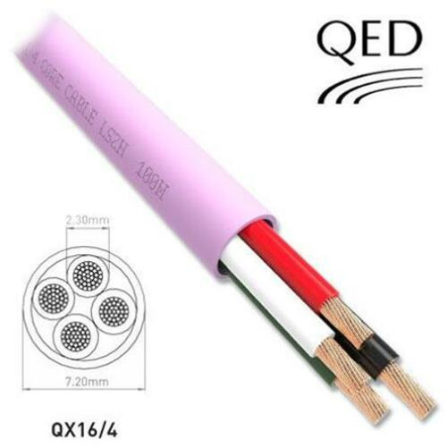 100 or 300m Drums QED Professional QX 16/4 LSZH 4 Core Custom Installation Speaker Cable