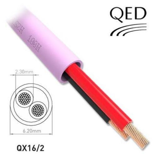 100 or 300m Drums QED Professional QX 16/2 LSZH 2 Core Custom Installation Speaker Cable
