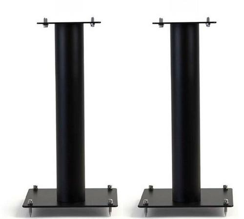 Pair Of Norstone Stylum 1 50cm High Steel Loudspeakers Stands In White, Black or Black/Oak