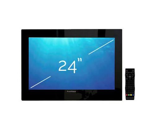 """ProofVision 19"""" or 24"""" Black Bathroom IP65 Waterproof TV Built In Speakers"""