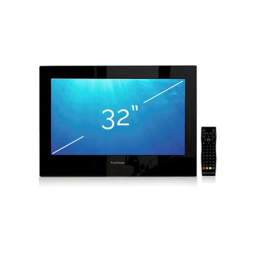 """ProofVision 32"""" Black Bathroom IP65 Waterproof TV Built In Speakers"""