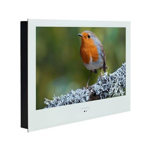 """ProofVision 19"""" or 24"""" White Bathroom IP65 Waterproof TV Built In Speakers"""
