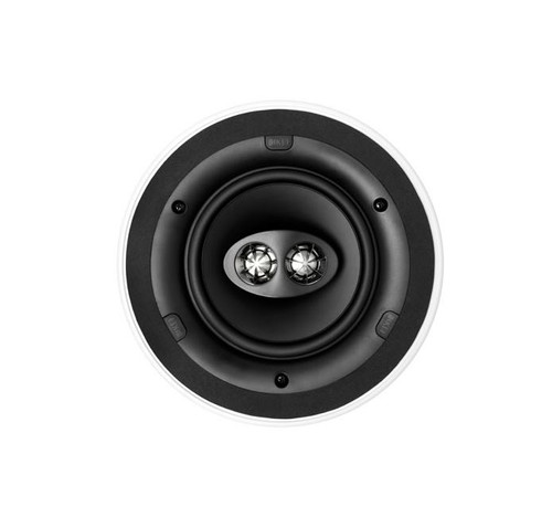 KEF CI160CRDS 160mm Dual Stereo In Ceiling Flush Mounted Speaker, Ultra Thin Bezel, Round, Each, White