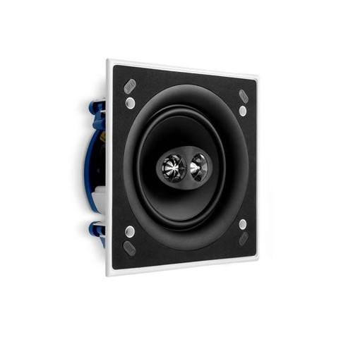 KEF CI160CSDS High Fidelity In Ceiling Flush Mounted Speaker, Ultra Thin Bezel, Square, Each, White