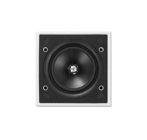 KEF CI130QS 130mm In Ceiling Flush Mounted Speaker, Ultra Thin Bezel, Square, Each, White