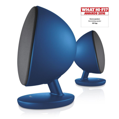 KEF EGG Wireless Digital Music Speaker Pure White, High Gloss Black or Frosted Blue