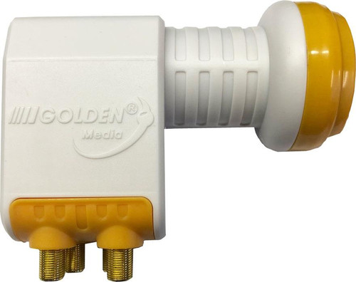 Golden Media 0.1dB High Gain Quad 4 Output LNB Sky, FreeSat, Astra 1, Hotbird