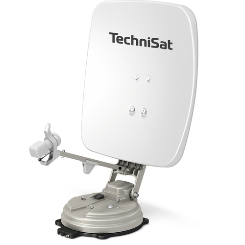 TechniSat SKYRIDER 65cm Single LNB Smiley Face Yellow or Polar White Fully Automatic Foldable Satellite Dish