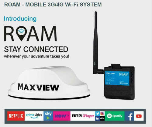Maxview Roam Mobile 3G & 4G Wi-Fi Internet Caravan, Motorhome, Smart TV