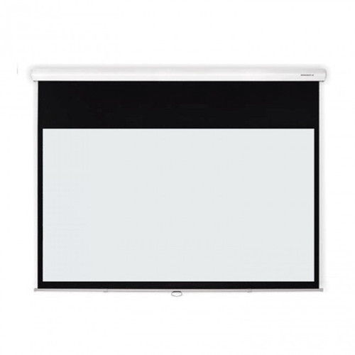 6, 7 or 8ft Grandview Cyber Manual Auto Retract 16:9 Projector Screen