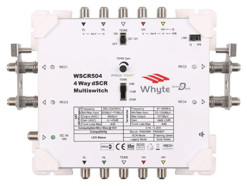 WHYTE Series D Sky Q™ dSCR Multiswitch Cascade 5 In 4 Out dSCR or Legacy