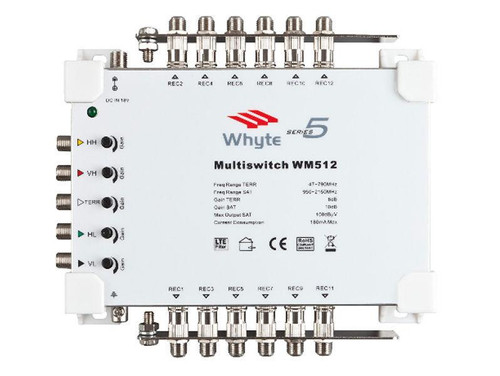 WHYTE Series 5 Multiswitch 5 In x 12 Out c/w Output Earth Bars Only