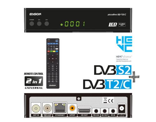 Edision PICCOLLINO S2+T2/C Combo Satellite, Terrestrial, Cable HD Receiver