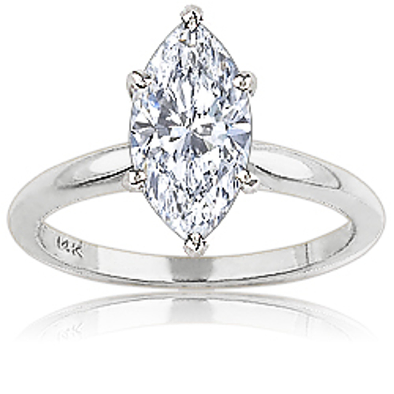Marquise Cubic Zirconia Classic Solitaire Engagement Ring Mystique Of Palm Beach