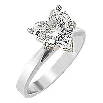 Heart Cubic Zirconia Cathedral Solitaire Engagement Ring