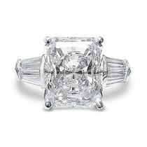 Starburst Emerald Cut Double Baguette CZ Engagement Ring