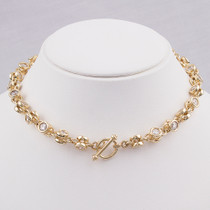 14K CZ Toggle Necklace