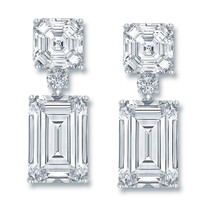 Melissa Asscher and Emerald Cut Drop CZ Earrings
