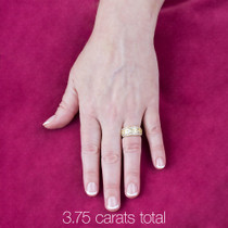 Bonnie CZ Princess Cut & Rounds Small Designer Band