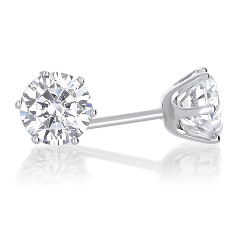 Candy Six Prong Cubic Zirconia Stud Earrings