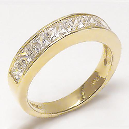 Amanda Channel Set Princess Cut CZ Wedding Band, 2.5 Carat TW