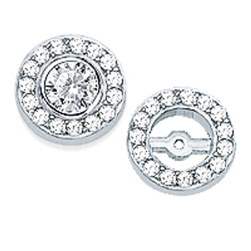 Stephanie Small Halo CZ Rounds Earring Jackets