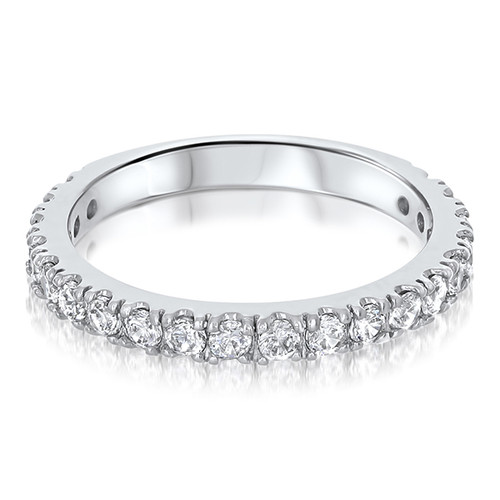 Brenina Matching Band with Round CZ Stones, 0.75 Ct TW