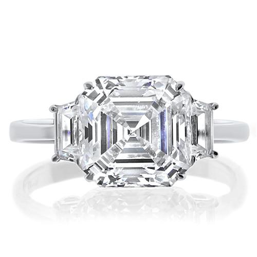 Maya Asscher with Trapezoids CZ Engagement Ring