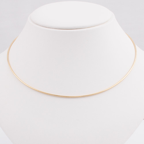 14K Gold Omega Neckwire 1.4mm
