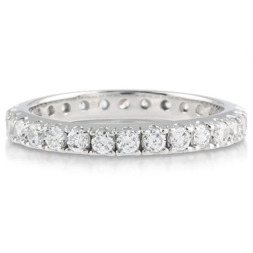 Brenina Matching Eternity Band with Round CZ Stones