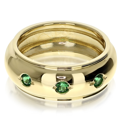 Cedric Cigar Band Men's Ring, 0.18 Ct TW