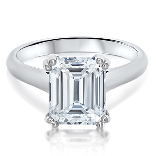 Catalina Emerald Cut with Double Prongs Solitaire Engagement Ring