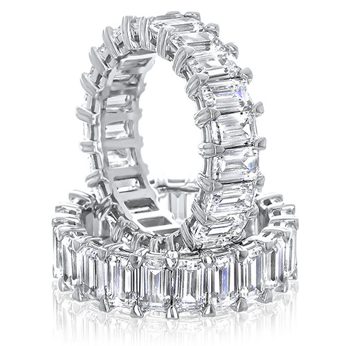 Nora 0.5 Carat Each Shared Prong Emerald Cut Eternity Band