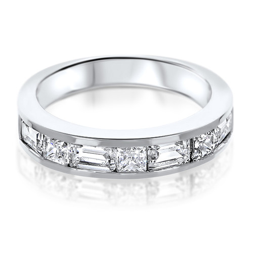 Peyton Channel Set Emerald Cut & Princess Cut CZ Band