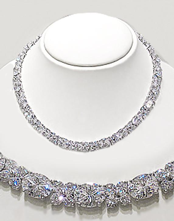 Pamela Designer Inspired Cubic Zirconia Necklace, 80.5 Ct TW
