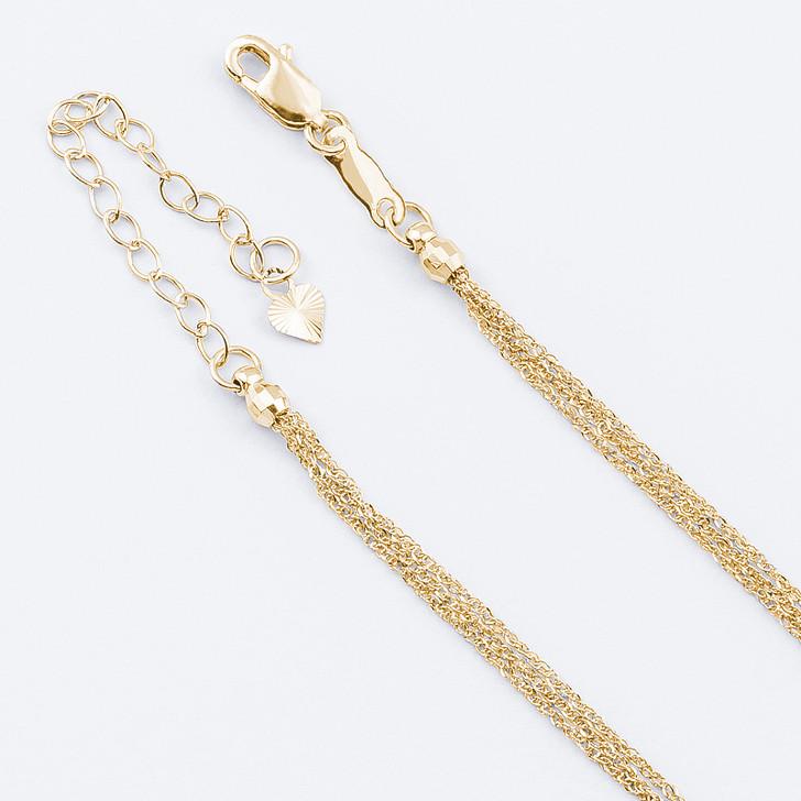 Trinity Triple Strand 14K Gold Fine Rope Chain