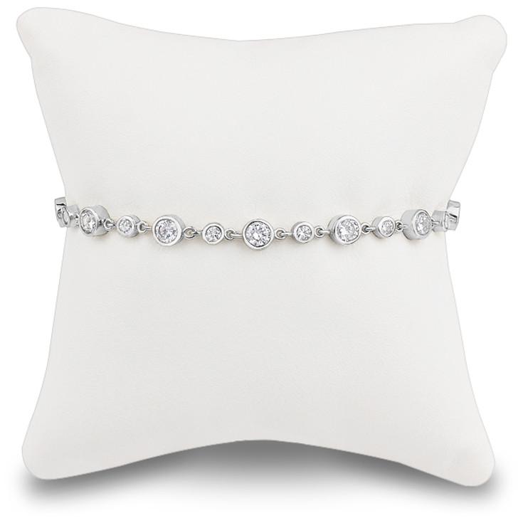 Rolo Rounds Bezel Link Cubic Zirconia Bracelet