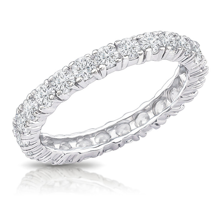 Zoey Round Prong Set Cubic Zirconia Eternity Band