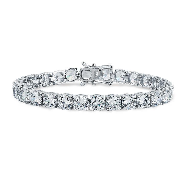 Gwyneth Classic Round Cubic Zirconia Tennis Eternity Bracelet