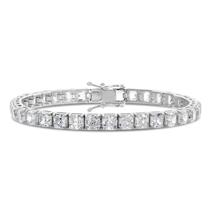Audrey Asscher Cut Cubic Zirconia Tennis Eternity Bracelet