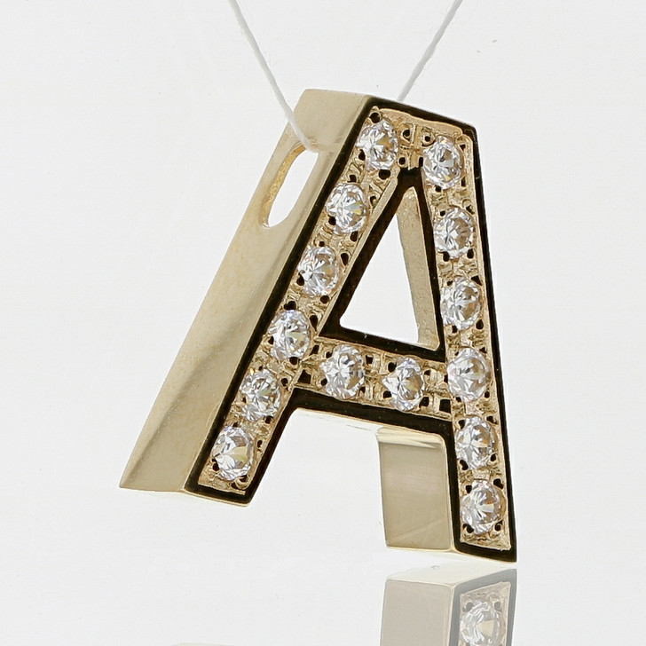 A Wonderful Letter A Pendant or Slide in 14K Yellow Gold, Limited Edition