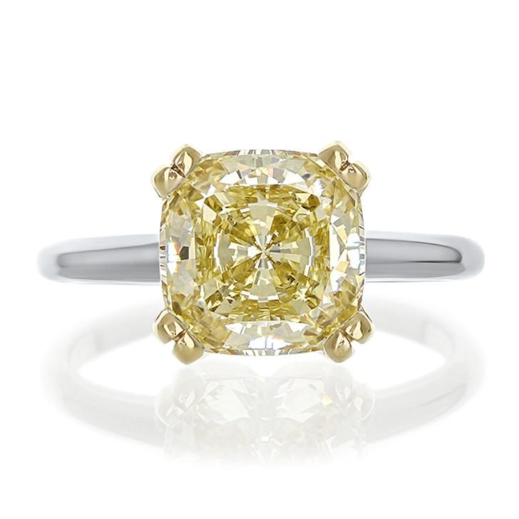 1.5 Carat Caroline Split Prong Cushion CZ Engagement Ring