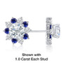 Elizabeth CZ Halo Earring Jackets with Alternating  Colors