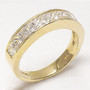 Amanda Channel Set Princess Cut CZ Wedding Band, 2.5 Carat TW
