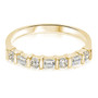 Baguette and Rounds Cubic Zirconia CZ Anniversary Band Ring