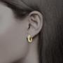 Elle Channel Baguette CZ Huggie Hoop Earrings, 1.32 Carats Total